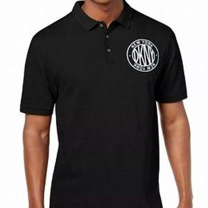 New DKNY black polo shirt